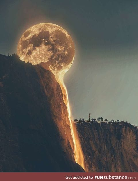 The moon is melting
