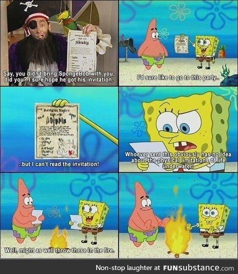 I love it when Spongebob becomes self aware