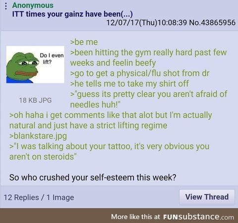 Anon does steroids