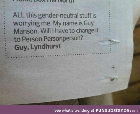 Gender neutral name