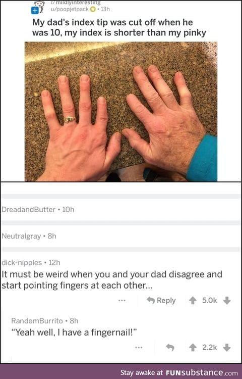 Grow a long nail