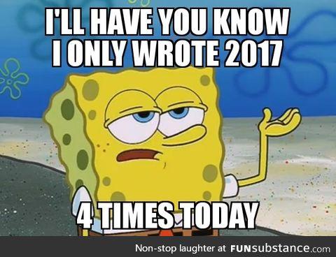 3 less than last year