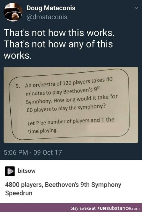 Math doesn't know music