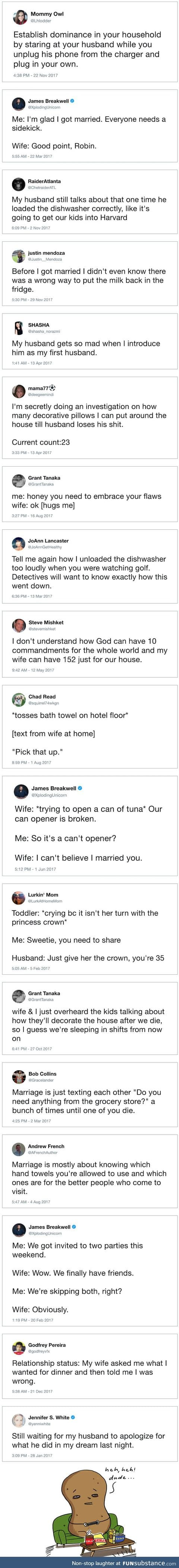 15+ hilarious marriage tweets in 2017