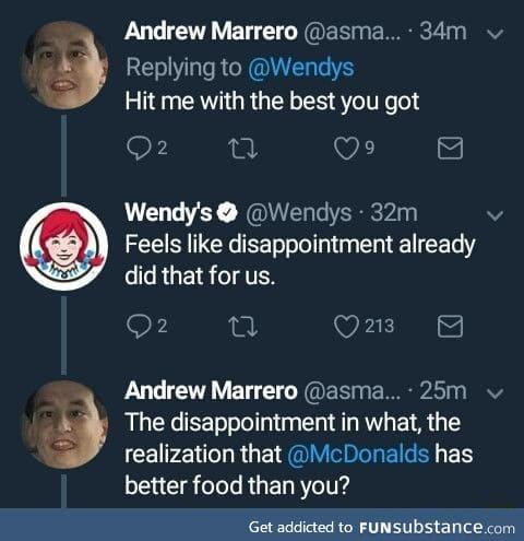Wendy's met her match