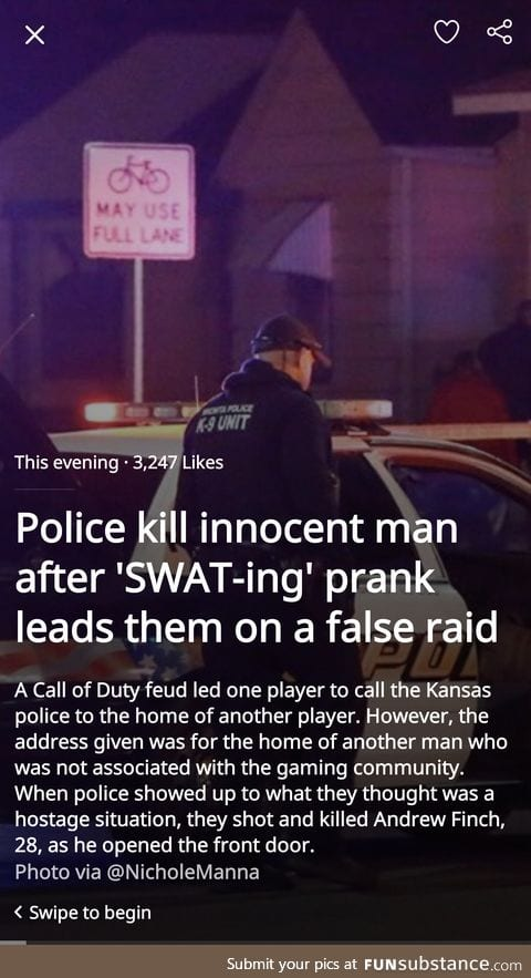 """Swat-ing"" is a thing?"