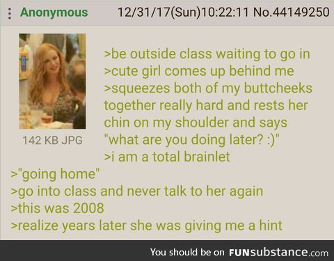 Anon misses an opportunity