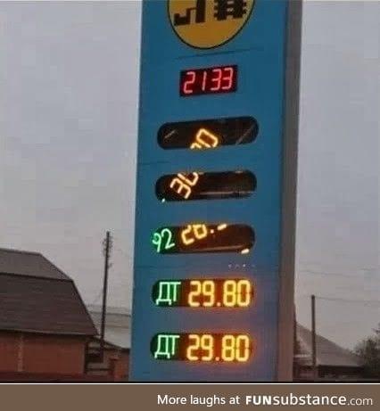 Gas prices are fallinga