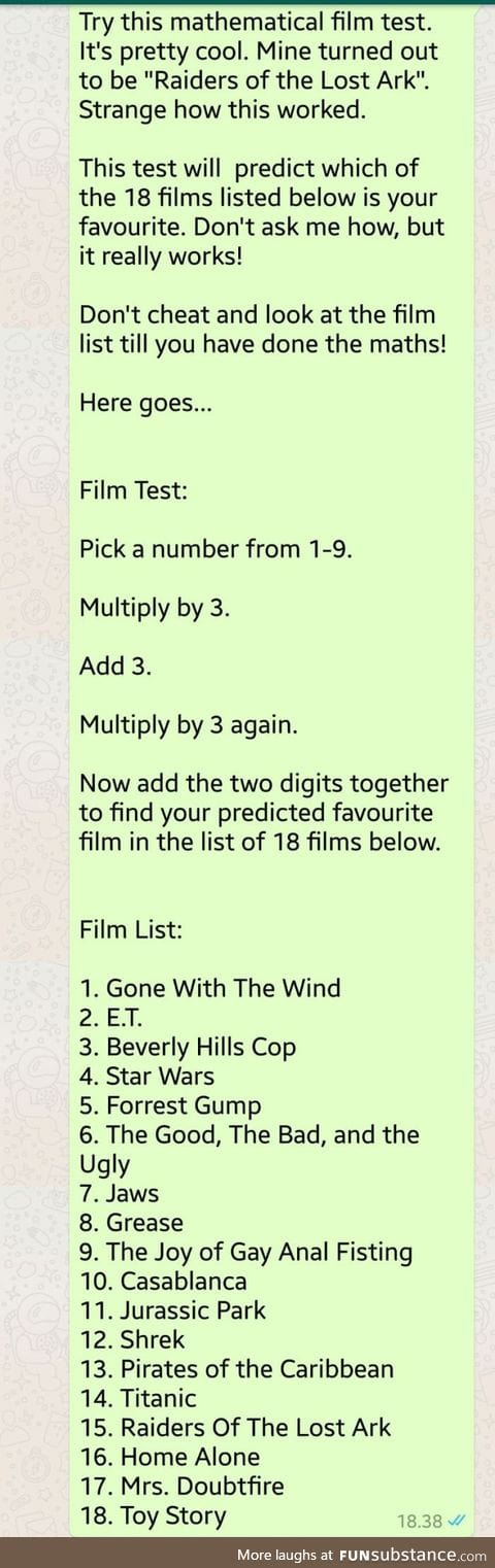Try this mathematical film test. It's pretty cool