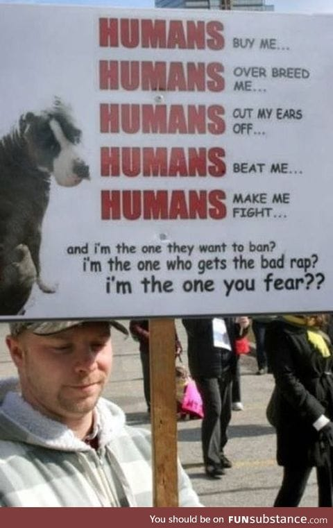 Humans and pit bulls