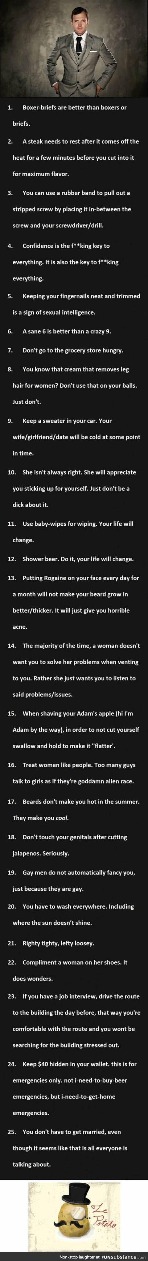 25 man secrets that all men should be aware of