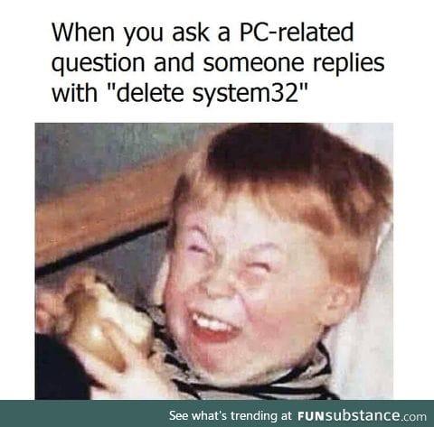 "Or ""delete syswow64"""
