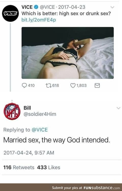 What kind of sex is nice?