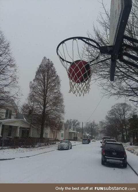 Well it is too cold to play basketball