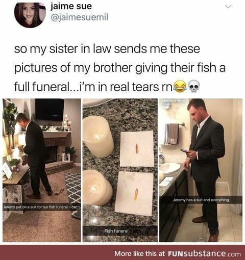 fish funeral