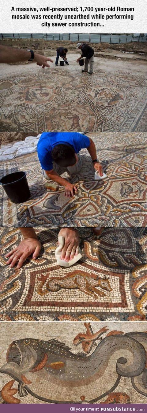 1,700 year-old roman mosaic