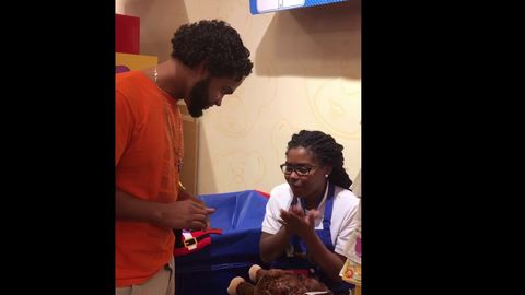 Father gives son a toy monkey that plays his mothers voice, who passed away in July