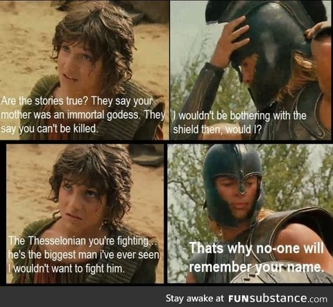 Achilles - Scene from Troy