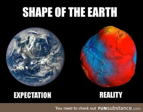 Earth-a big potato