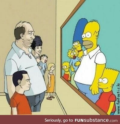 The Simpsons if they weren't terrifying yellow monsters