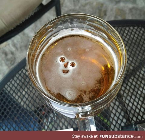 This beer was happy to see me