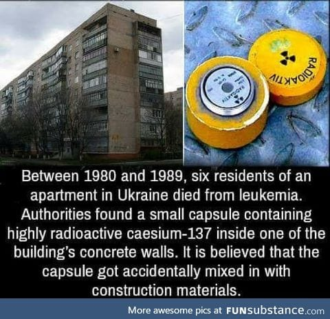How do you accidentally mix radioactive material with construction material???!!!