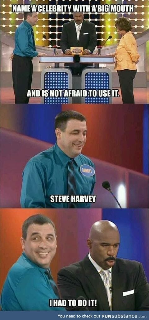 Look at Steve Harvey's mouth