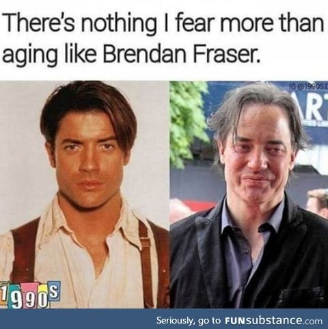 I would rather age like Keanu Reeves