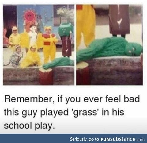 When the grass looks greener