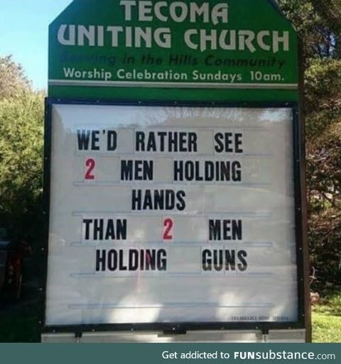 Best church sign of the week