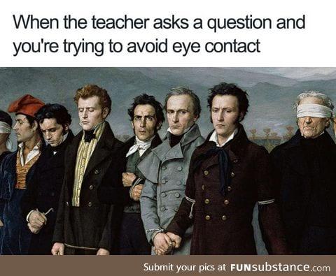 Teacher, leave those kids alone!
