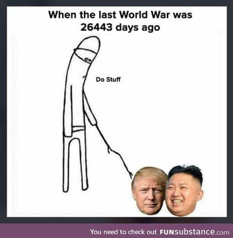 War...War never changes