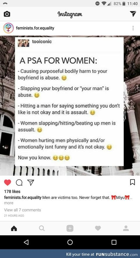 Another screenshot from a feminist page on Instagram