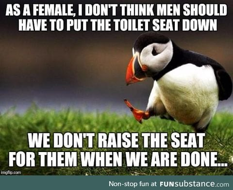 No one wants to touch a toilet seat