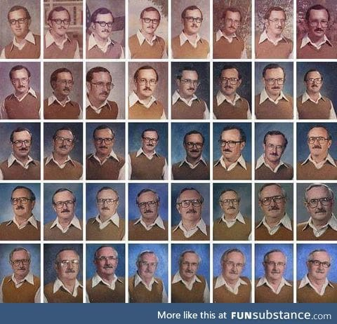 Dale Irby, a teacher with a great sense of humor that wore the same outfit for the