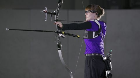 How do archers resist firing arrows at everyone in the spectator gallery?