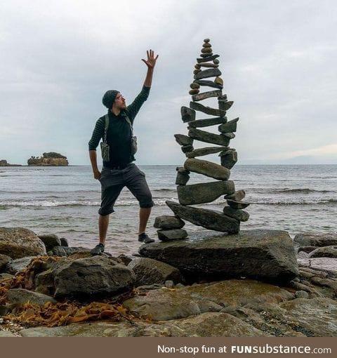 Rock balancing level 9000
