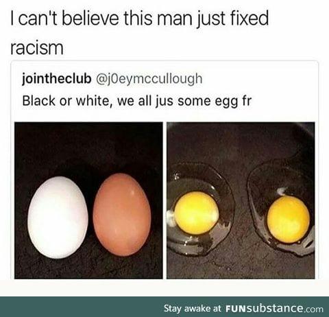 Theoretically, he kinda fixed it.