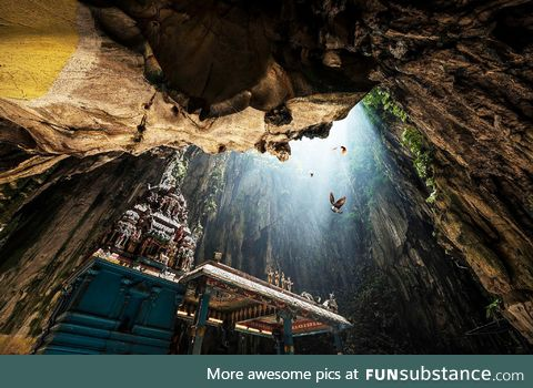 The unbelievably majestic Batu Caves in Malaysia