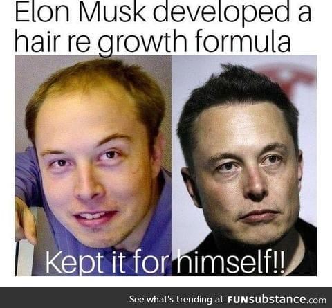Elon Musk transformation.