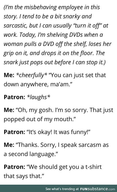 Autopilot set to sarcasm