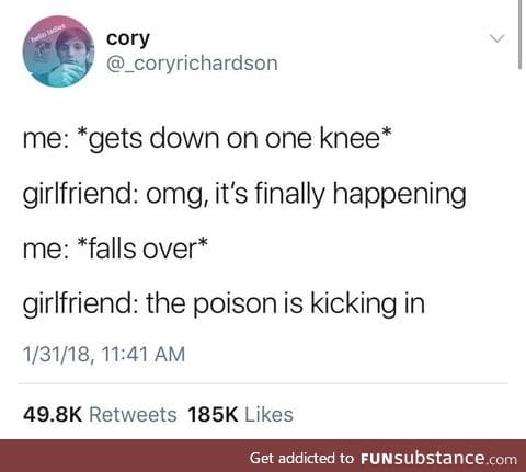 It was taking it long enough.