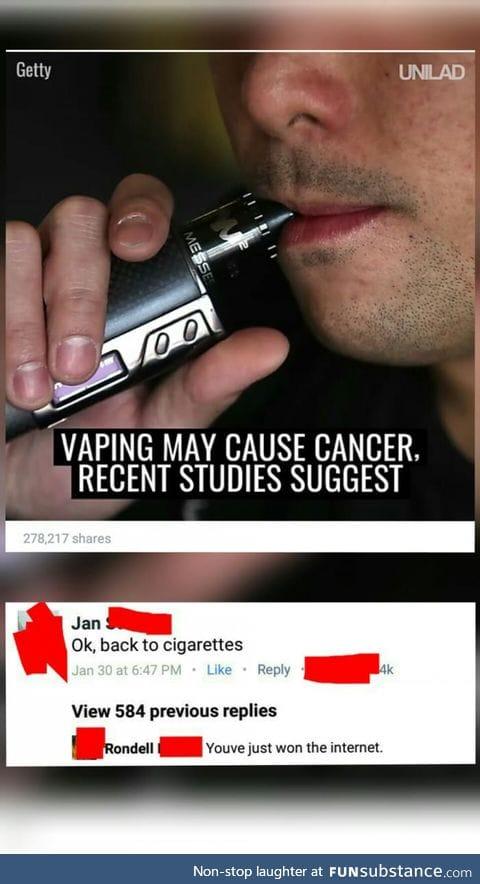 Cancer may cause smoking