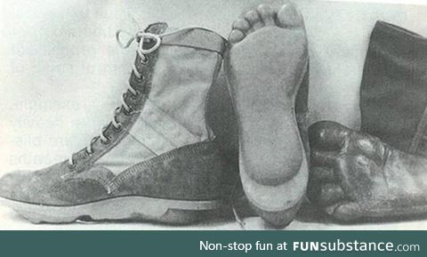 Boots from the US Special Forces units MACV / SOG during the Vietnam War