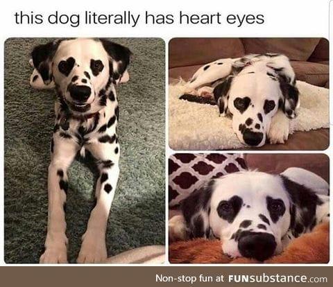 Heart eyes.