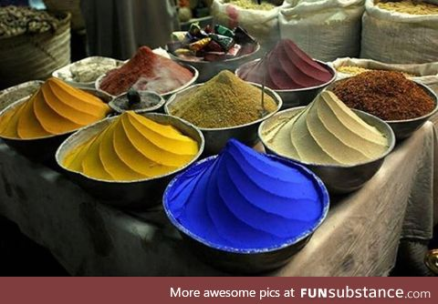 Spices in a bazar, Egypt