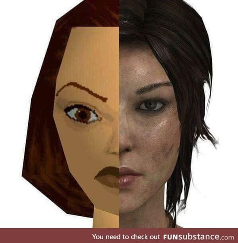 1998 computer graphics compared to 2018 computer graphics.