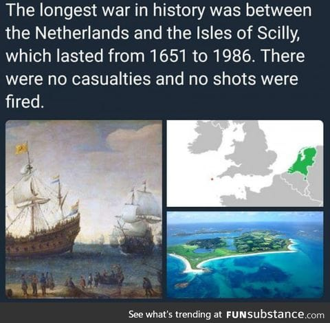The longest war in history
