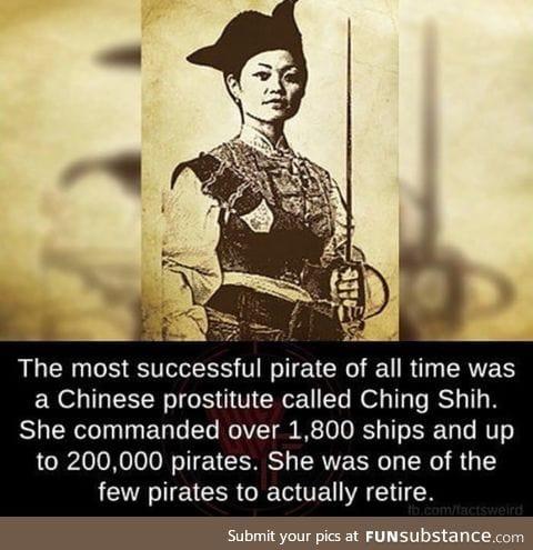 You heard it hear first folks. A female Pirate