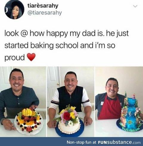 Happy baker dad